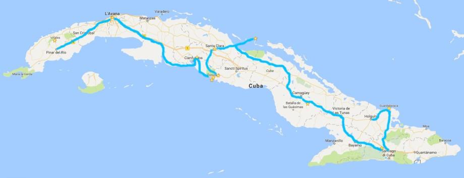 itinerario CUBA
