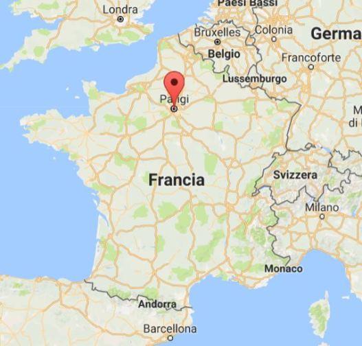 parigi-Cartina